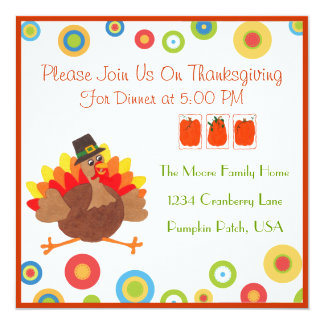 Rolig Turkiet thanksgivingmiddag - inbjudan