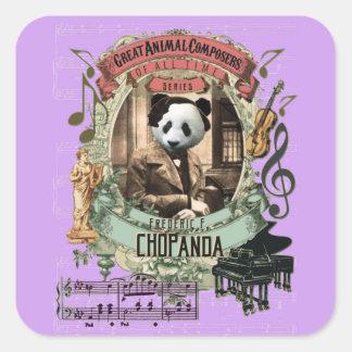 Rolig underbar djur kompositör Chopin för Chopanda Fyrkantigt Klistermärke