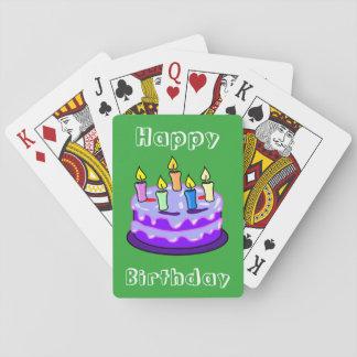 Rolig unik coola för grattis på födelsedagentårta kortlek