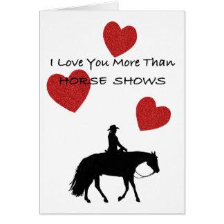 Rolig valentin för hästperson hälsningskort