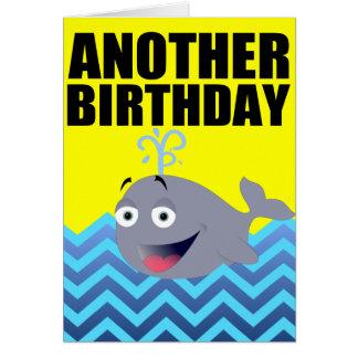 Rolig valfödelsedagtecknad hälsnings kort