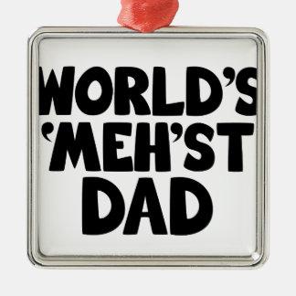Rolig världs mehstpappa julgransprydnad metall