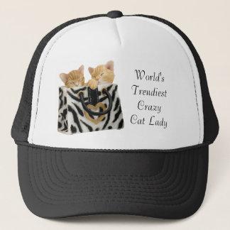 Rolig världs mest moderiktig galen hatt för truckerkeps