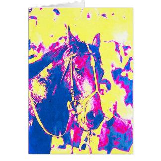 Rolig vattenfärg för Racehorse för Seattle Hälsningskort