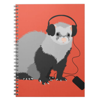 Rolig vessla för musikälskare anteckningsbok med spiral