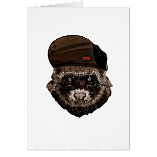 Rolig vessla med hatten hälsningskort