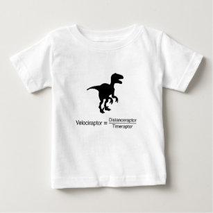 rolig vetenskap för velociraptor t shirt