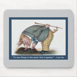 Rolig vintagegris Mousepad - Victoriandjurkonst Musmattor