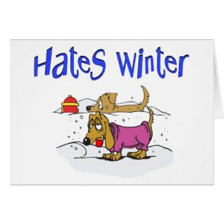 Rolig vinterjulkort