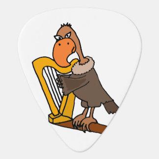 Rolig vråk som leker harpan plektrum