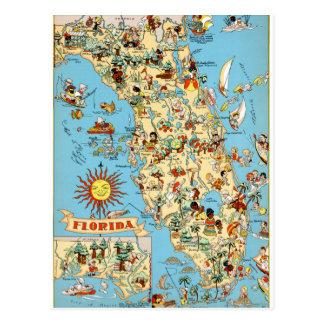 Rolig vykort för Florida vintage