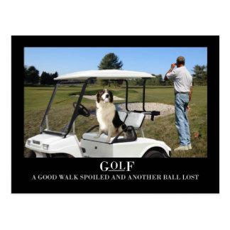 Rolig vykort för gränsColliehund, borttappadboll