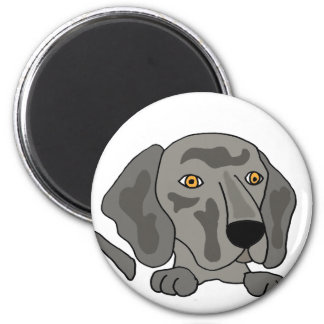 Rolig Weimaraner hundkonst Magnet