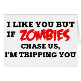 Rolig Zombie Hälsningskort