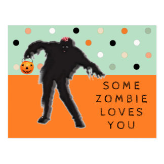 Rolig Zombie Vykort