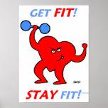 Roliga affischer som är motivational för kondition