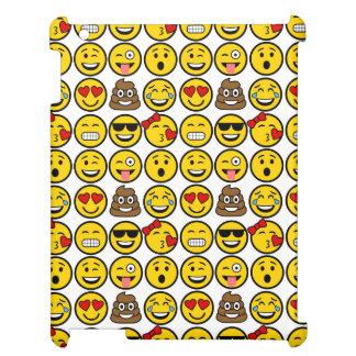 Roliga ansikten för Emoji mönstersinnesrörelse iPad Mobil Skydd