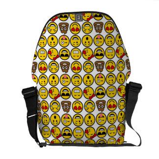 Roliga ansikten för Emoji mönstersinnesrörelse Kurir Väskor