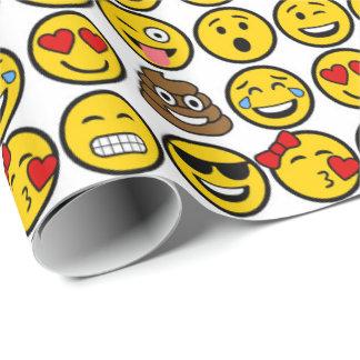 Roliga ansikten för Emoji mönstersinnesrörelse Presentpapper