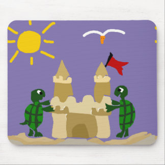 Roliga babysköldpaddor som bygger Sandslottet Musmatta