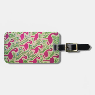 Roliga bagagemärkre för Flamingo Bagagebricka