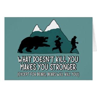 Roliga björnar hälsningskort