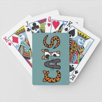 Roliga brev för katter som CV leker kort Spelkort