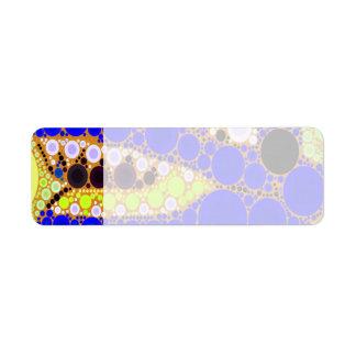 Roliga den Retro blåttalligatorkrokodilen cirklar Returadress Etikett