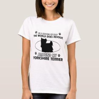 Roliga designer för yorkshire terrier tshirts