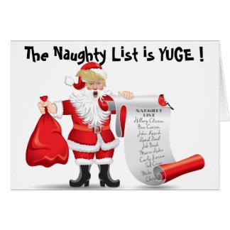 Roliga Donald Trump Santa med styggt listar Hälsningskort