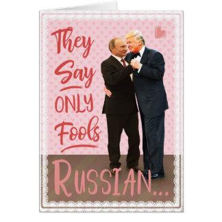 Roliga Donald Trump Vladimir Putin valentin dag Hälsningskort