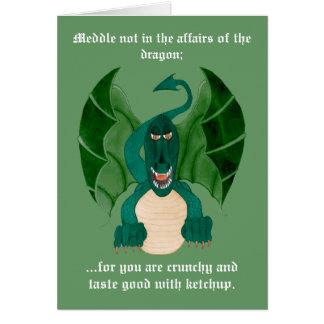 Roliga drakehälsningkort hälsningskort