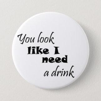 Roliga dricka gåvavingåvor blidkar skämt knäppas mellanstor knapp rund 7.6 cm