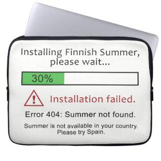 Roliga finlandssvenska sommarlaptop sleeve