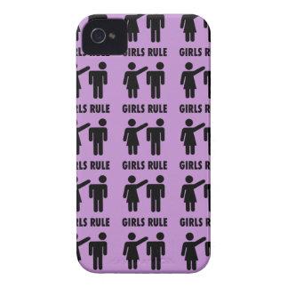Roliga flickor härskar den purpurfärgade flickan iPhone 4 hud