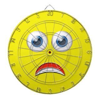 Roliga förskräckt Emoji Darttavla