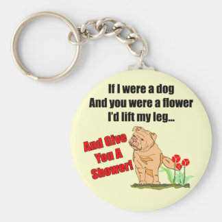 Roliga gåvor för blommaduschT-tröja Nyckel Ring
