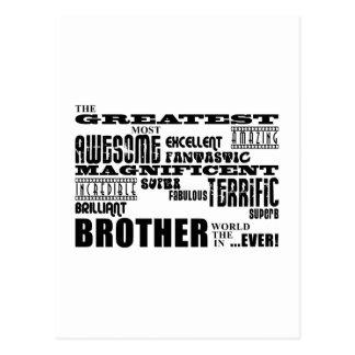 Roliga gåvor för bröder: Mest underbar broder Vykort