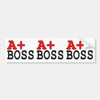 Roliga gåvor för chefer: A+ Chef Bildekal