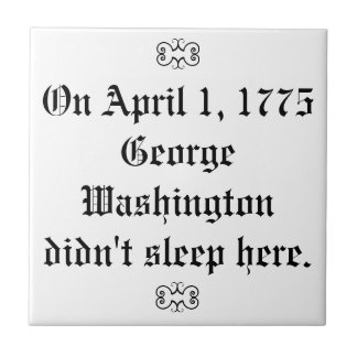 Roliga George Washington undertecknar Kakelplatta