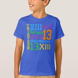 Roliga GRAFISK 13th födelsedagUTSLAGSPLATS för T Shirt