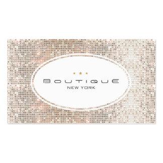 Roliga & gulliga Sequins för silver för modeBoutiq Visitkort Mallar