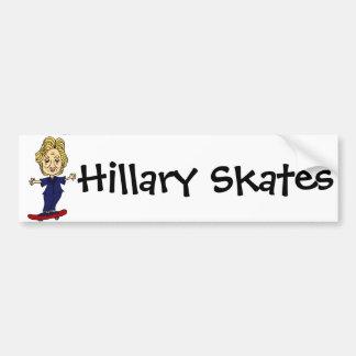 Roliga Hillary åker skridskor anti Hillary Bildekal