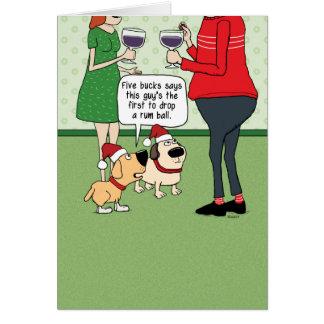 Roliga hundar på partyjulkortet hälsningskort