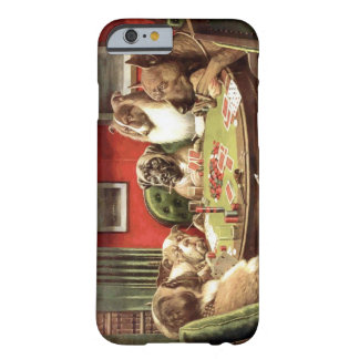 Roliga hundar som leker fodral för pokeriPhone 6 Barely There iPhone 6 Skal