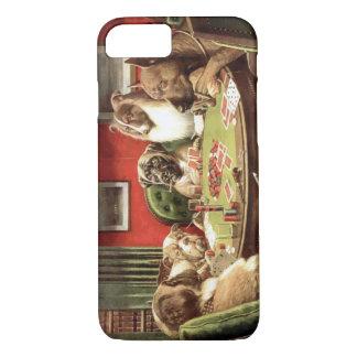 Roliga hundar som leker fodral för pokeriPhone 7
