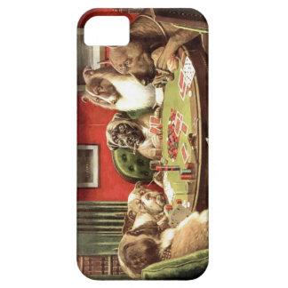Roliga hundar som leker poker Iphone, täcker iPhone 5 Fodral