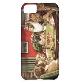 Roliga hundar som leker poker Iphone, täcker iPhone 5C Fodral