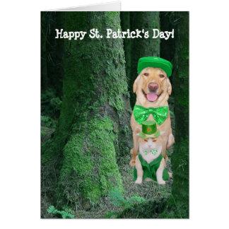 Roliga husdjur St Patrick Hälsningskort