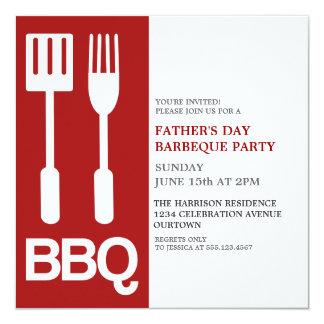 Roliga inbjudningar för fars dagBBQ-party